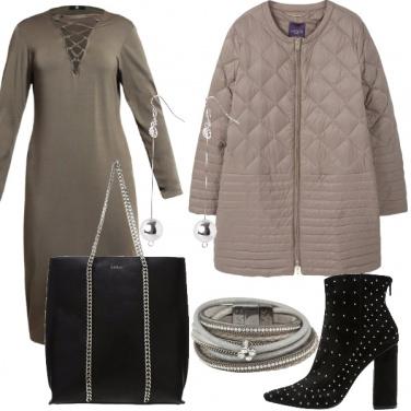 Outfit Signora in grigio