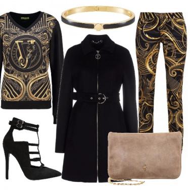 Outfit Nero oro