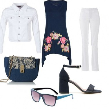 Outfit White and Blue