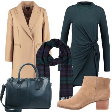 Outfit Verde e cammello