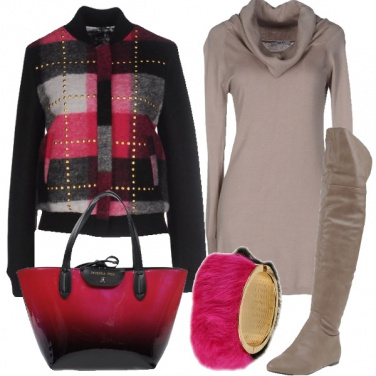 Outfit Il bomber in tartan