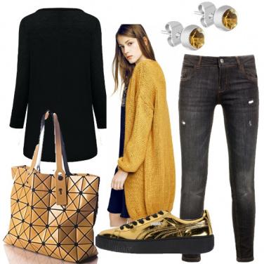 Outfit Giallo senape