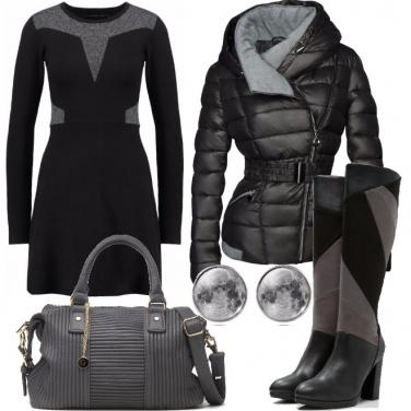 Outfit Vestito di maglia