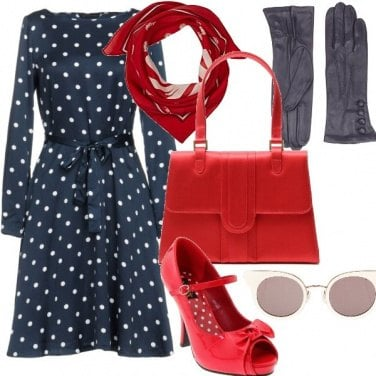 Outfit Come una pin-up
