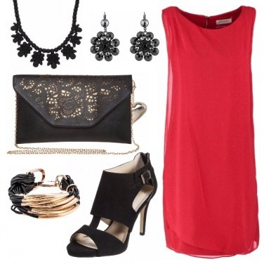Outfit Red-black