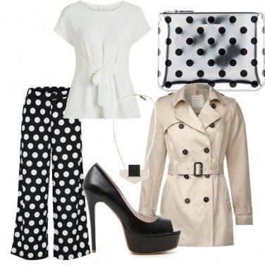 Outfit B&W polka dot