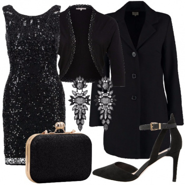 Outfit Elegantia in paillettes