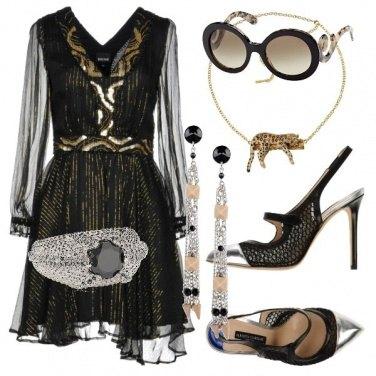 Outfit Trasparenze raffinate black & gold
