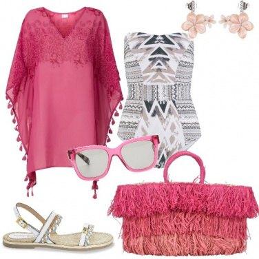 Outfit Ferragosto in rosa