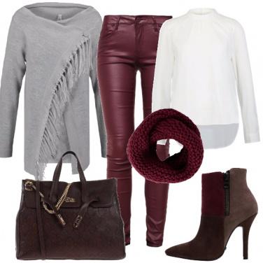 Outfit Pelle bordeaux