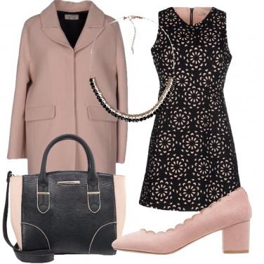 Outfit Nero e rosa bon ton