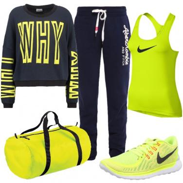Outfit Sportiva e raggiante