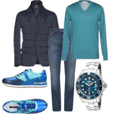 Outfit Color del mare anche d'inverno