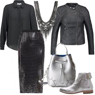 Outfit Bagliori metallici