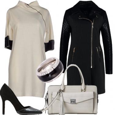 Outfit L\'eleganza veste bianco e nero