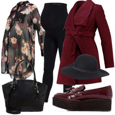 Outfit Colori caldi e fiori