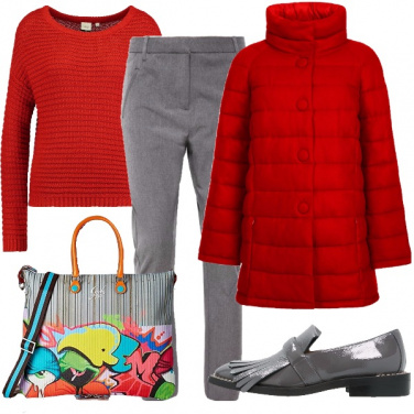 Outfit Calda in rosso