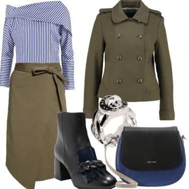Outfit Quasi lineare in stile militare