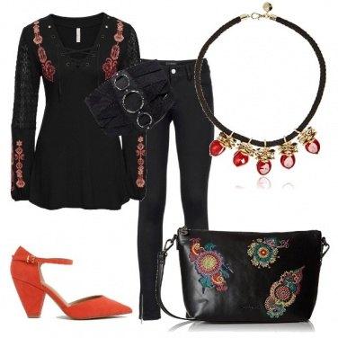 Outfit Fantasia floreale con eleganza