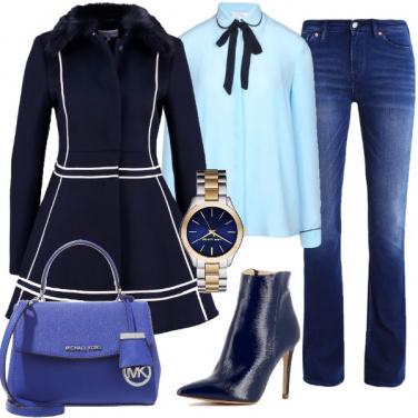 Outfit Jeans e bon ton