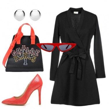 Outfit Vestito a portafoglio nero