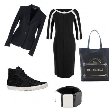 Outfit Sporty formal in black