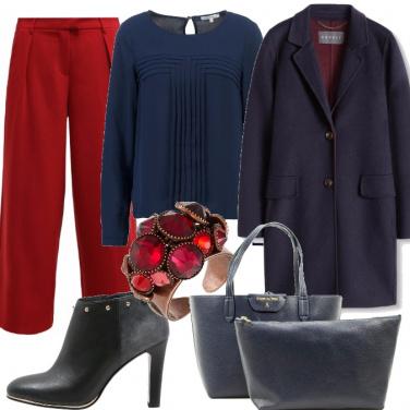 Outfit Eleganza blu navy