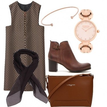 Outfit Marrone chic