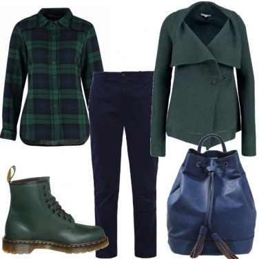 Outfit Verde & blu