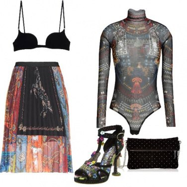 Outfit Colorate trasparenze