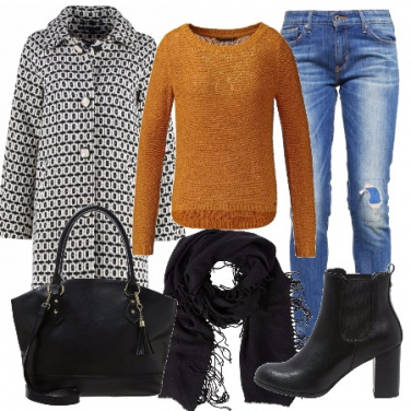 Outfit Cappotto jacquard