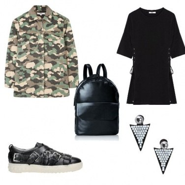 Outfit Giacca camouflage