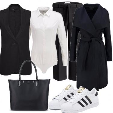 Outfit Il bianco e nero che non stanca mai