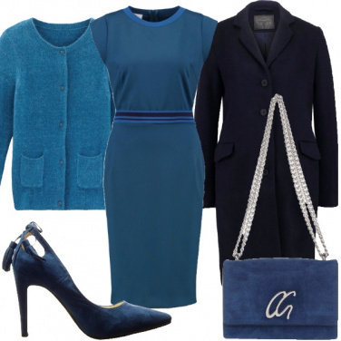 Outfit Le tonalità del blu