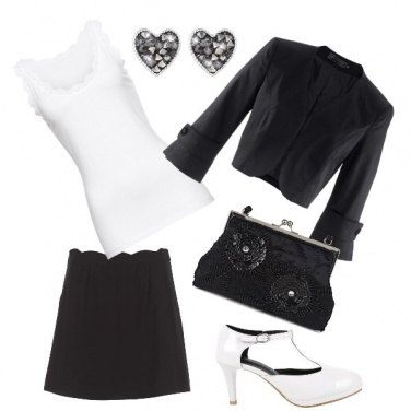 Outfit Total......black & white