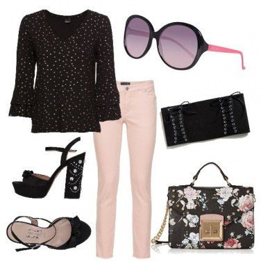 Outfit City Total look pink & black