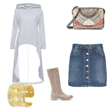 Outfit Jeans con chic