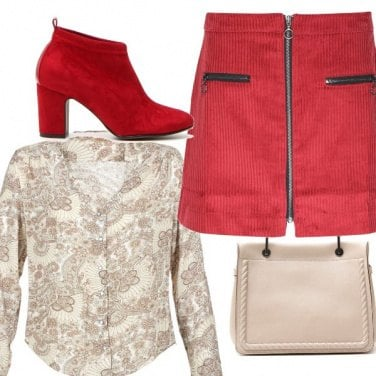 Outfit Rosso e sabbia