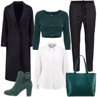 Outfit Look classico in verde