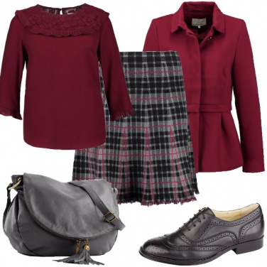 Outfit La gonna a quadri