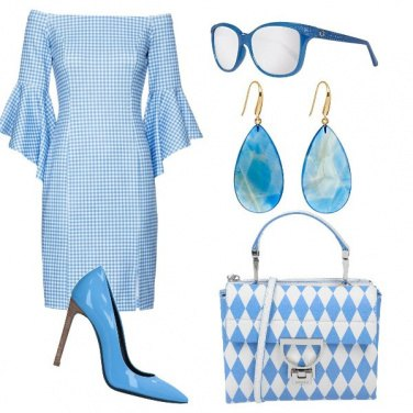 Outfit Chic in rombi e vichy