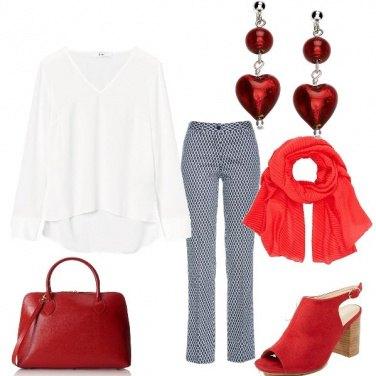 Outfit Rosso da ufficio