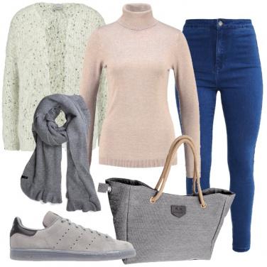 Outfit Il jeans a vita alta
