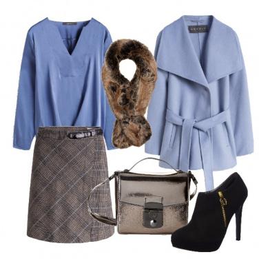 Outfit Airy blue e principe di galles