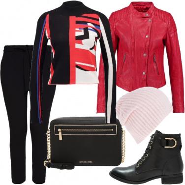 Outfit Rosso di stile