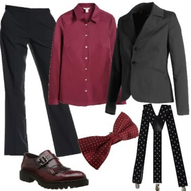 Outfit Accenni di bordeaux