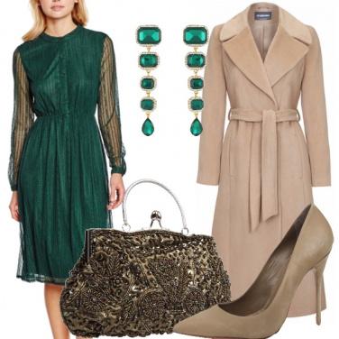 Outfit Elegante in verde prato
