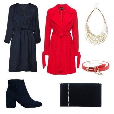 Outfit Blu e rosso sempre vincente