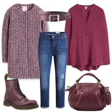 Outfit Variazioni di bordeaux