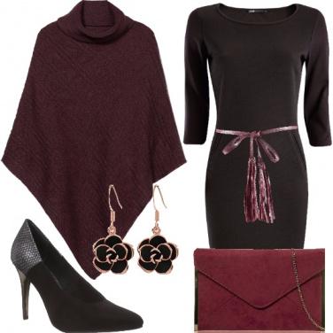 Outfit Dettagli bordeaux